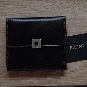 NWOT Prune black leather wallet